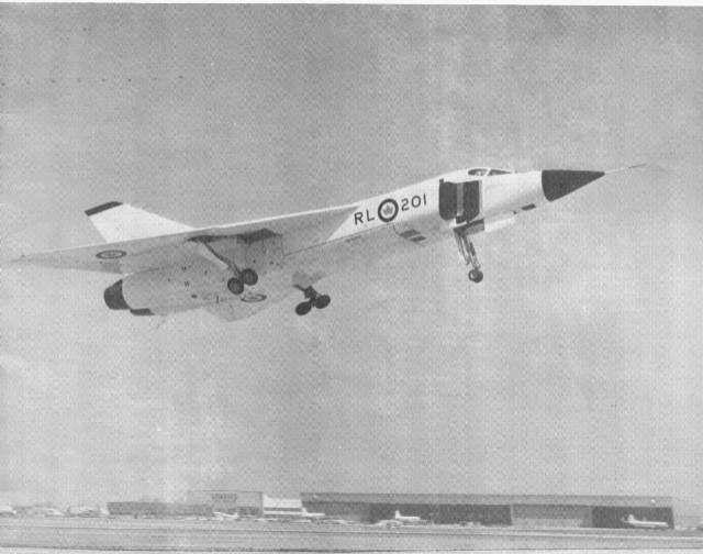 Avro Arrow (RL-201) (takeoff)