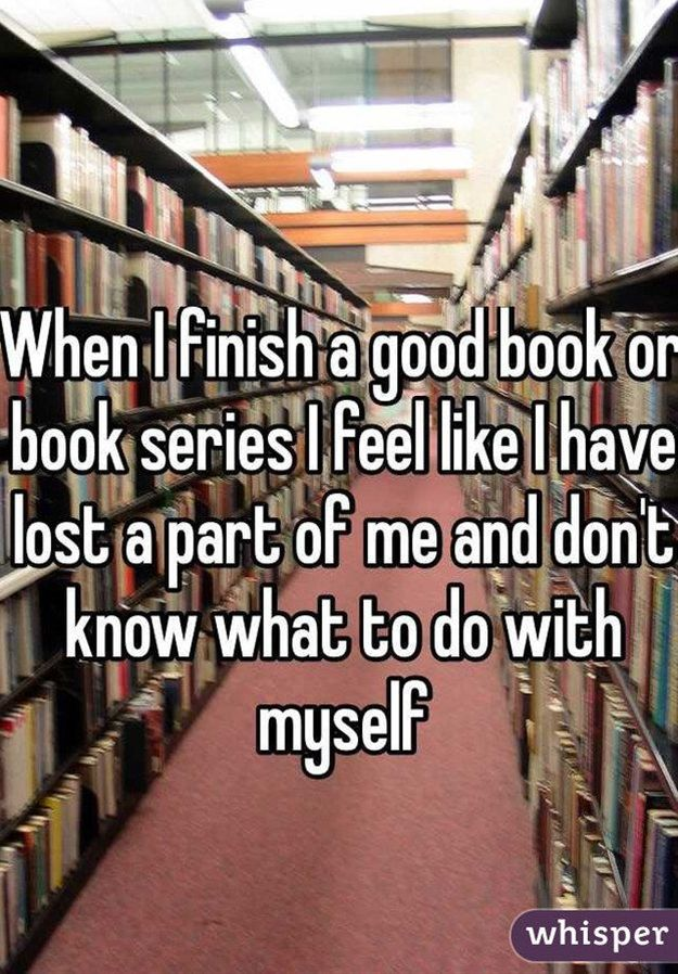Confession Any Book Lover Will Understand