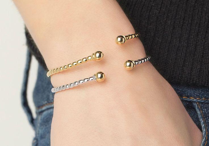 Combinación de dos pulseras Maxi St. Barth Gold y Silver. Two Maxi St. Barth bracelets Gold and Silver.