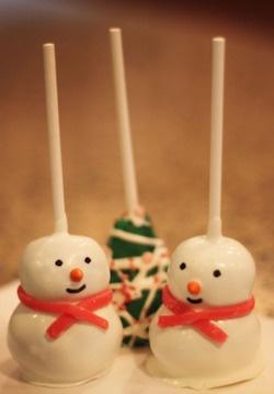 Snowmen & Christmas Tree Cake Pops