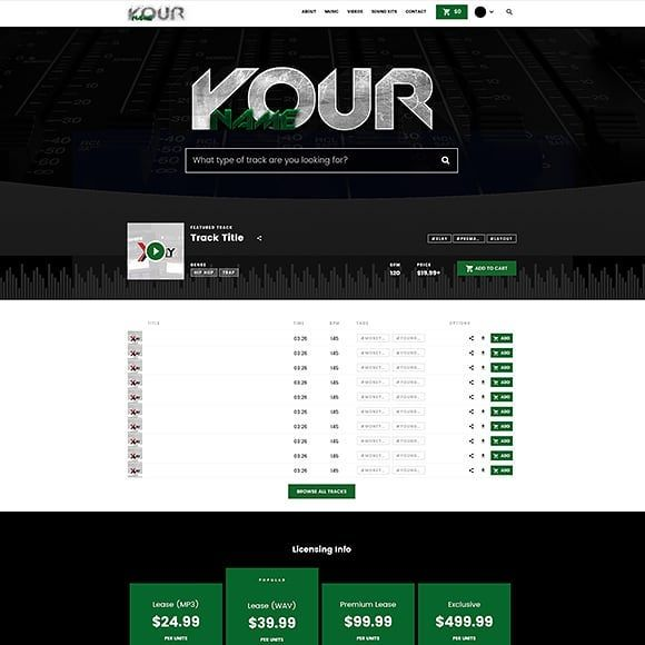 Premade Beatstars Pro Page Layout 047 Visit our Website for