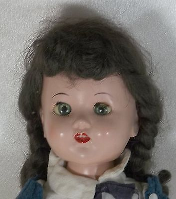 "Vintage Collectible 17"" Walker Doll - Mary Lu with Teeth Hard Plastic Doll 1950s"
