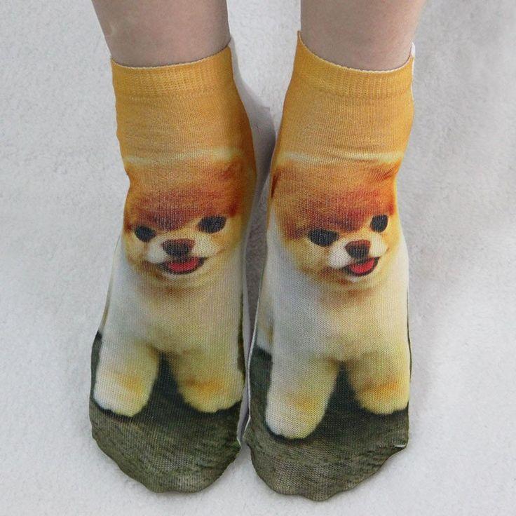 Socks Print Lovely Animal