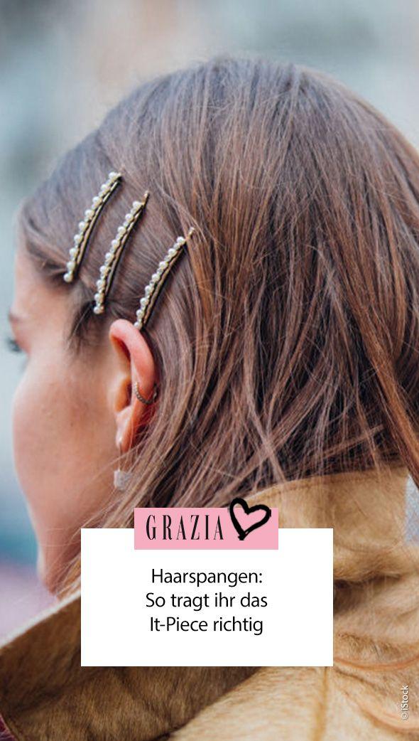 Haarspangen Sind Diesen Herbst Angesagt Und So Tragt Ihr Sie Richtig Mittellange Haare Frisuren Einfach Haarspangen Frisuren Mittellanges Haar