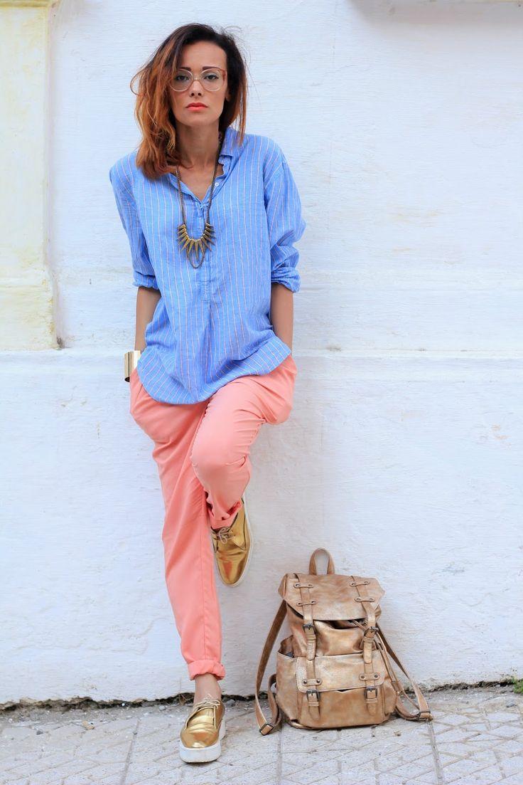 #veromoda #pantalon #saumon #blog #mode #france #defshop #defshopaddict #look #cute #beautiful #girl #chic