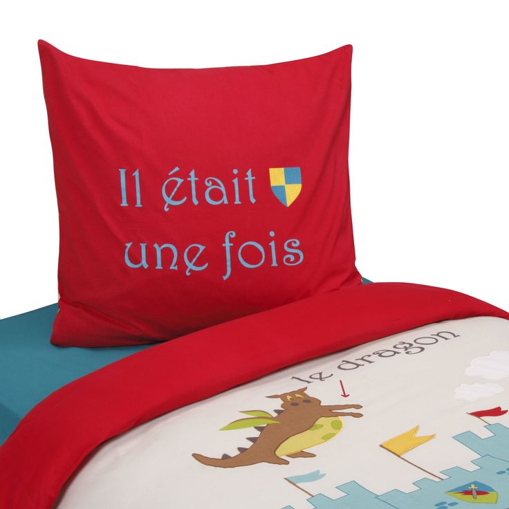 parure de couette pour lit enfant multicolore chevalier les parures de couette enfants le. Black Bedroom Furniture Sets. Home Design Ideas