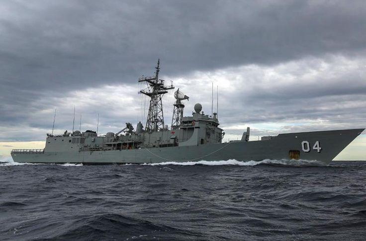 Royal Australian Navy Adelaide-class frigate HMAS Darwin.