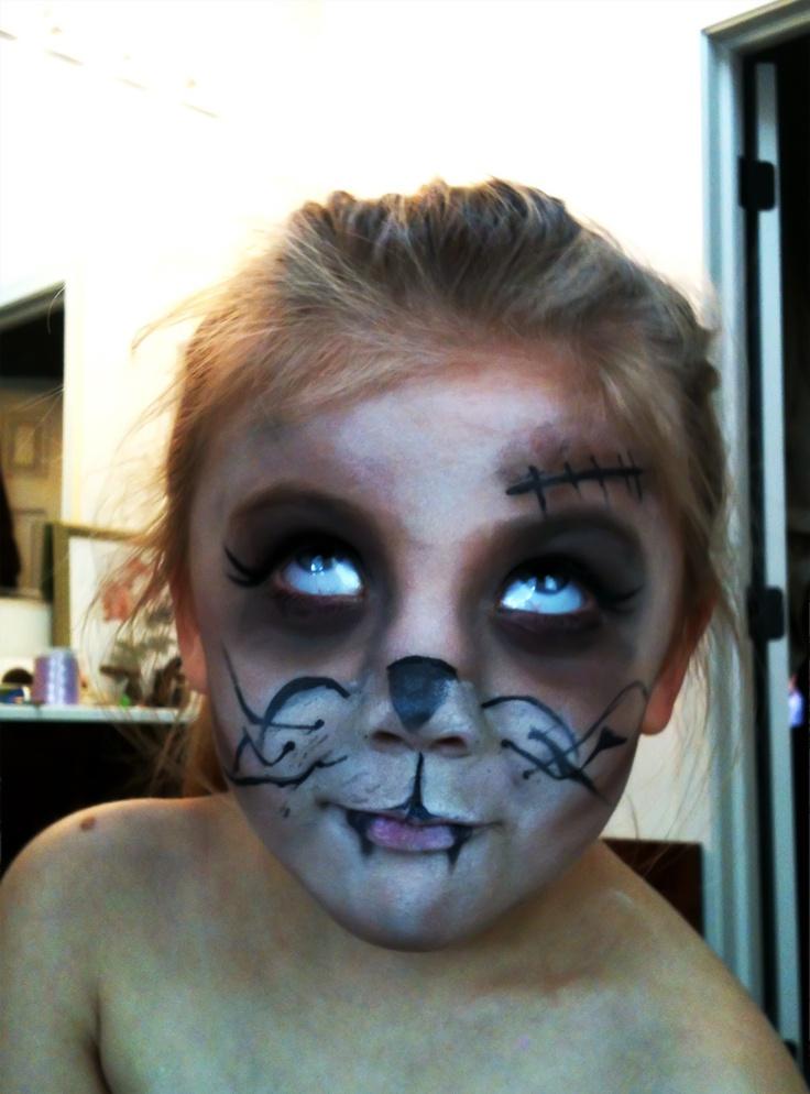 halloween skeleton face paint instructions
