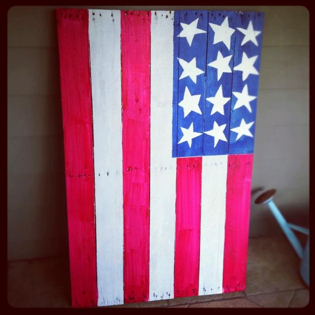 Wood Flag, Party Decor