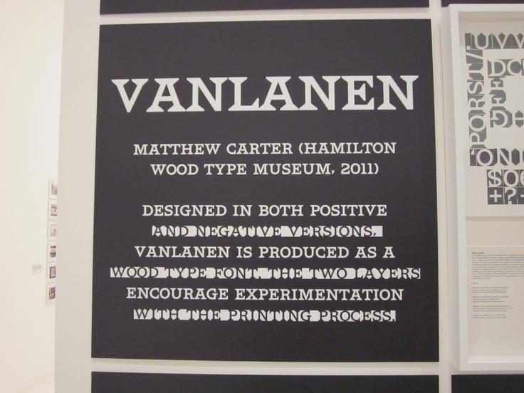 Vanlanen typeface