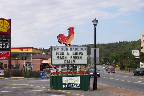 The Chickenburger - Road Sign July 2002