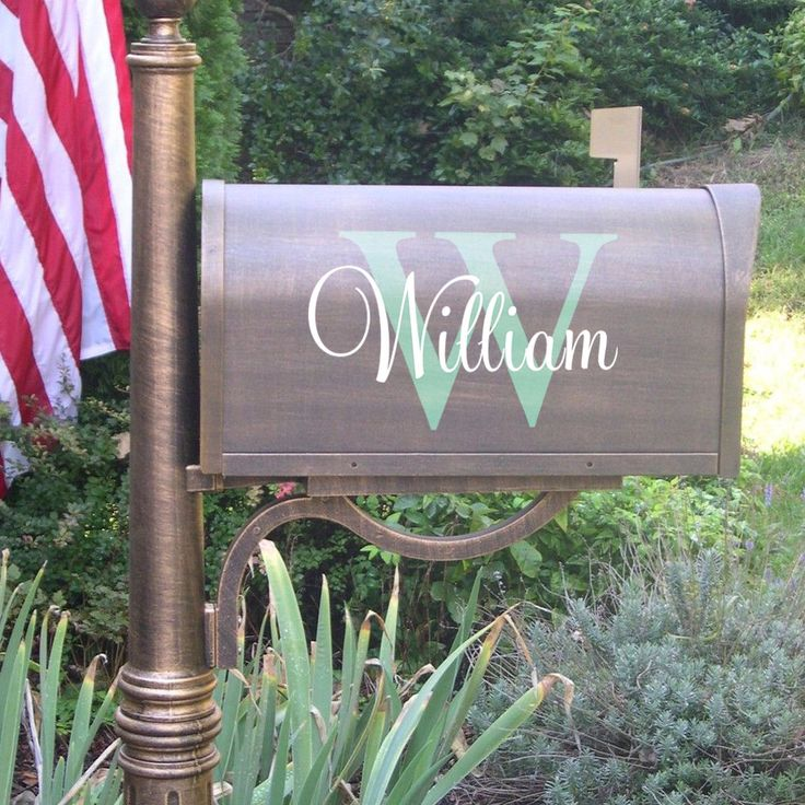 Vinyl Mailbox Decals -Ornaments last name with Monogram Wall Decals- Home Interior Exterior Design Art -Murals Family Home -House Sticker 02 by Sxixm on Etsy https://www.etsy.com/listing/244059419/vinyl-mailbox-decals-ornaments-last-name