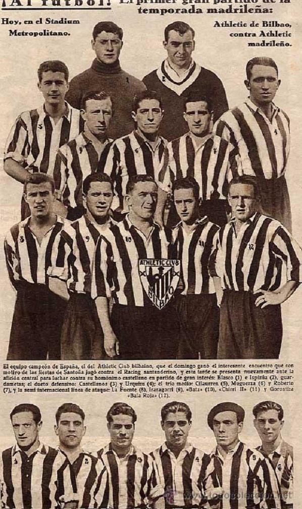 Poster alusivo al primer garn partido de la temporada madrileña, entre el Athletico Club Bilbao Vs Athletic Madrileño, en el Estadio Metropolitano.