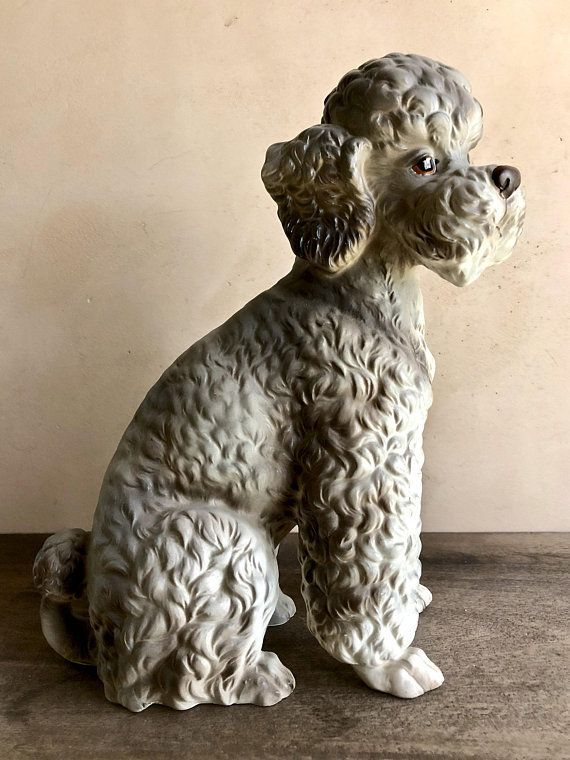 13 Tall Lefton Poodle Figurine H7070 Large Sitting Ceramic Standard An Oodles Poodles Collectibles Pinterest Figurines And Dogs