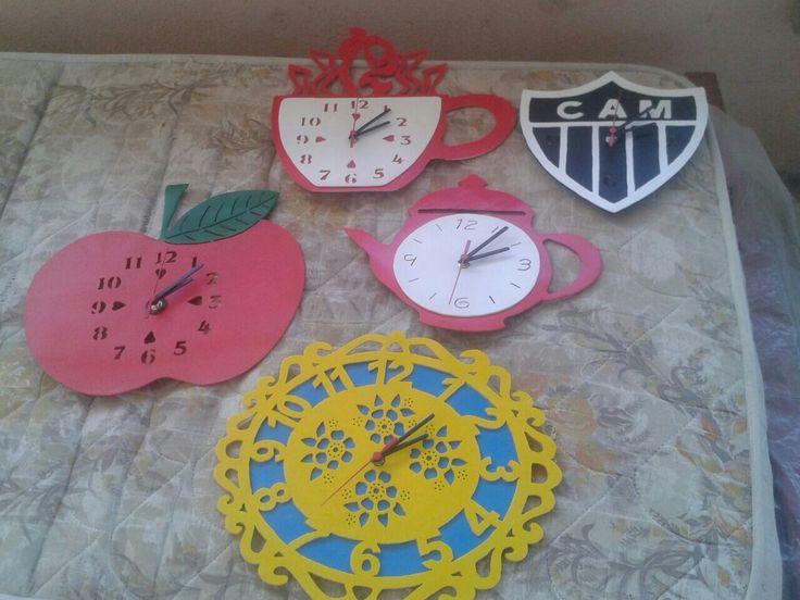 Relógios de pvc
