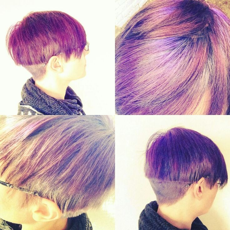 Short hair, girls with colour, haircutter