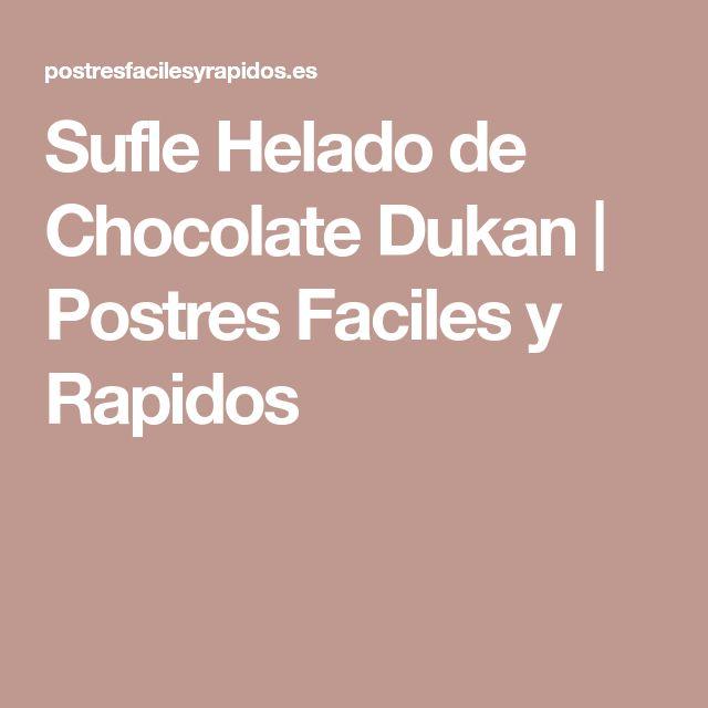 Sufle Helado de Chocolate Dukan | Postres Faciles y Rapidos