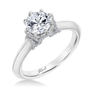 Shop online Karl Lagerfeld 31-KA100ERP-E Solitaire 18K - White Gold Diamond Engagement Ring at Arthur's Jewelers. Free Shipping