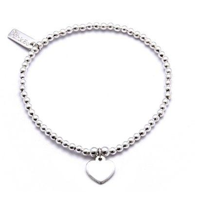 #ChloBo Iconic Mini Plain Heart #Charm #Bracelet  £60.00