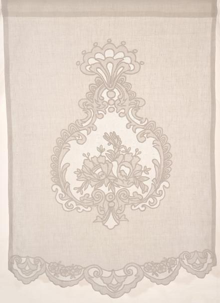 Brise bise brodé REINE Coquecigrues 45x70 cm, Brise-bises et Rideaux en prêt à poser , brise bise, store lin, rideaux, rideau, brodés, voila...