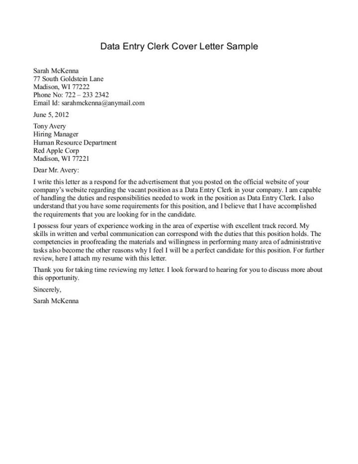 40 best letter images on Pinterest Cover letter sample, Resume - File Clerk Cover Letter