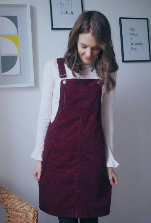 Becs' Cleo dungaree dress - sewing pattern by Tilly and the Buttons