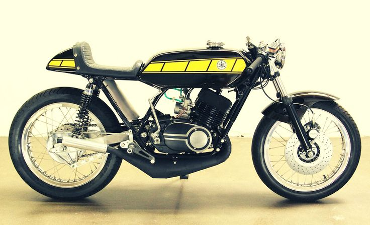 Yamaha RD400 Cafe Racer. This bike is kinda weird looking, but awesome too.