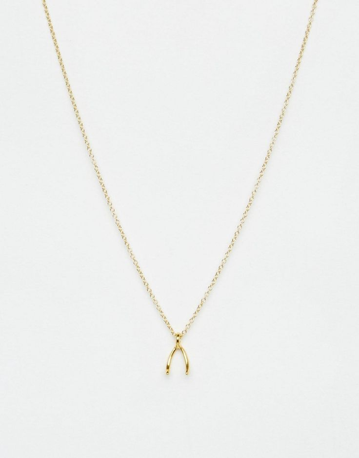 FOR THE PRECIOUS: Dogeared Gold Plated Teeny Wishbone Necklace