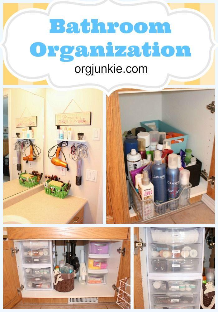 Need some fresh ideas for bathroom clutter.com. Bathroom Organization at orgjunkie.com