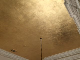 "A Gold Leaf ceiling just never goes out of style!  Artist - Sandra Gonzalez -""A Work of Art!"" Designer- LaWanna Wood"