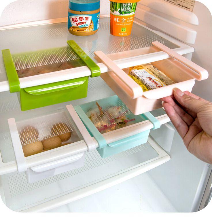 Refrigerator Organizer Rack Egg Storage Basket Refrigerator Snacks Storage Box Kitchen Shelves In Storage Holders