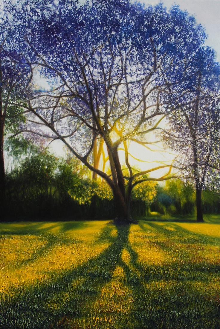 'Purple Shade' (Dutton Park)  2013 oil on linen 61cmx91cm