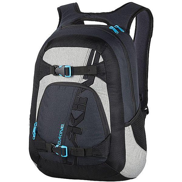DAKINE Explorer Pack Laptop Backpack (€36) ❤ liked on Polyvore featuring bags, backpacks, black, laptop backpacks, dakine rucksack, mesh bag, padded laptop bag, day pack backpack and padded backpack
