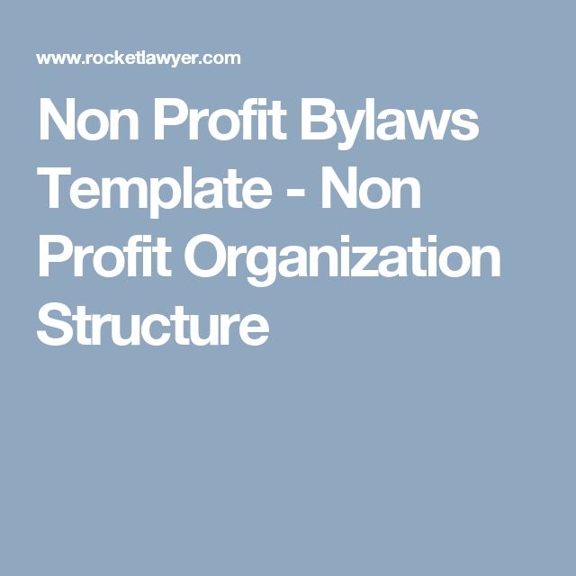 Non Profit Bylaws Template Non Profit Organization Structure Non Profit Profit Nonprofit Organization