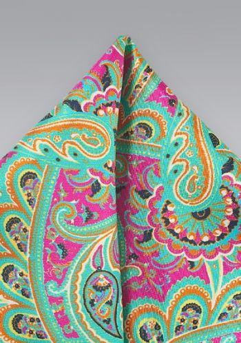 Kavaliertuch Paisley-Muster dunkelrosa