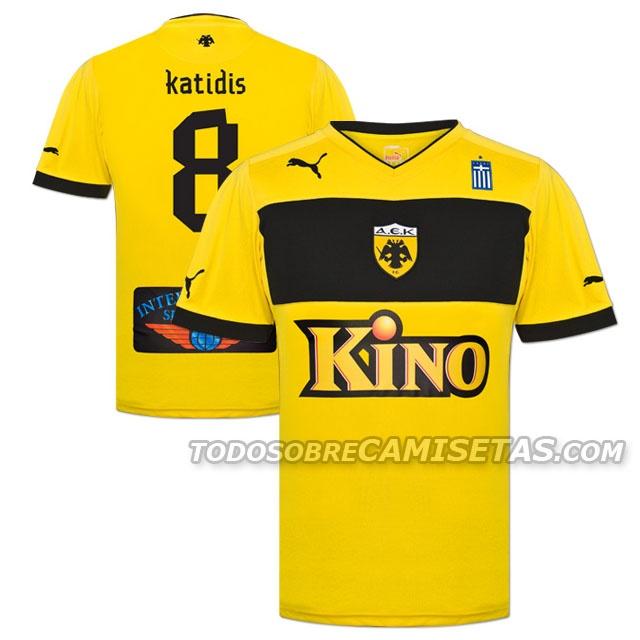 Todo Sobre Camisetas: AEK Athens Puma Kits 2012/2013