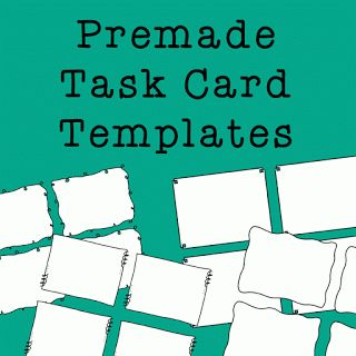 task cards card templates and templates on pinterest. Black Bedroom Furniture Sets. Home Design Ideas