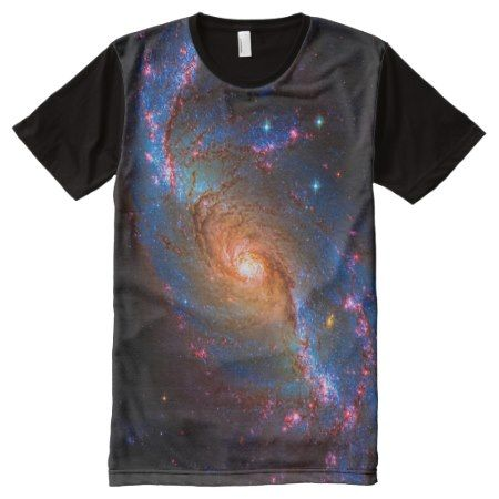 Barred Spiral Galaxy - Outer space picture All-Over-Print Shirt - click/tap to personalize and buy
