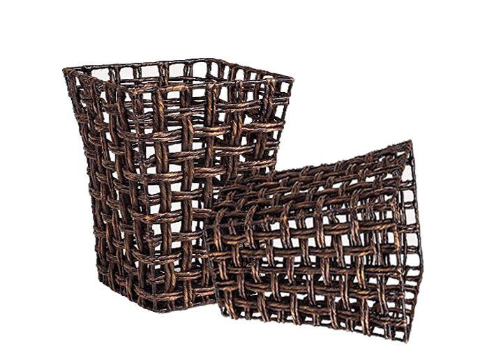 Home24h co,.ltd: Antique Karo Weave Water Hyacinth Basket - Handwoven Home24h