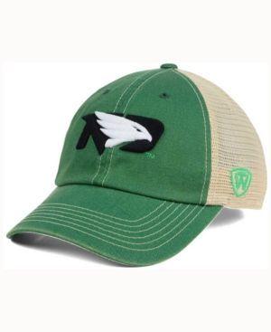 Top of the World North Dakota Fighting Hawks Wicker Mesh Cap - Green Adjustable