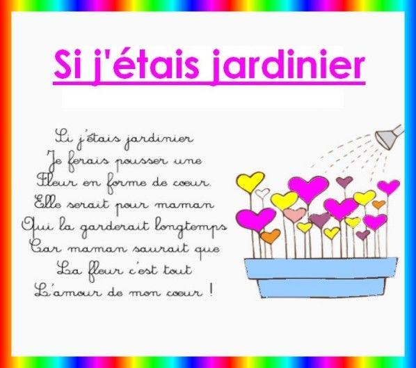 comptine Fête des Mères -Si j'étais jardinier.