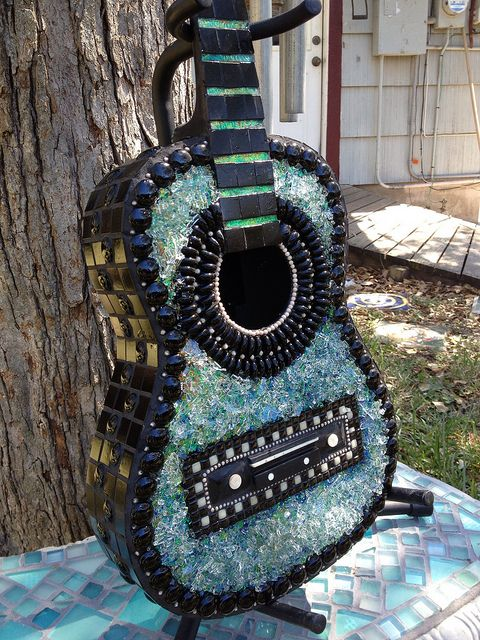 by Elsieland Mosaics, via Flickr   Mosaic Guitar