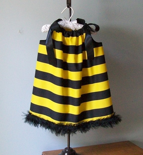 I like the idea of a striped dress...but needs wings.