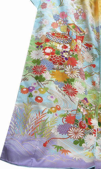 Japanese Kyo-yuzen Kimono