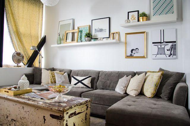 Regale über dem Sofa | Wohnung Living | Pinterest…