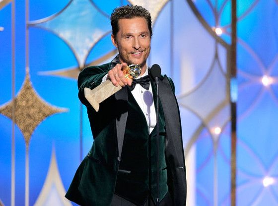 Alright! The Going Rate for a Matthew McConnaughey Speech Is $135,000  Matthew McConaughey, Golden Globes 2014, Winner