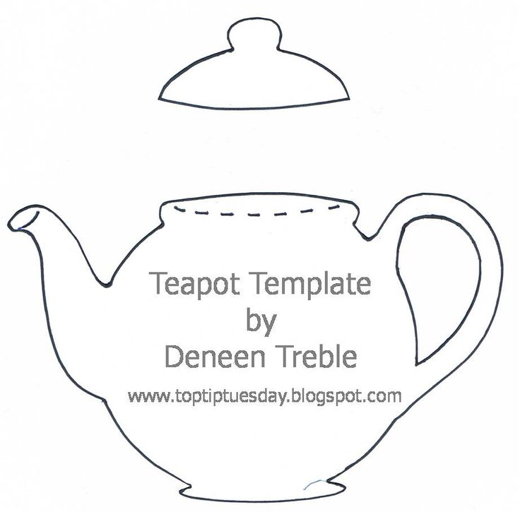 teapot outline for an invitation teapot party pinterest tutorials paper and tips. Black Bedroom Furniture Sets. Home Design Ideas