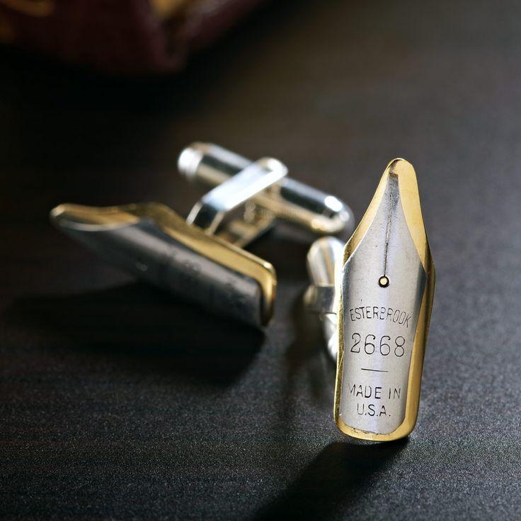 Vintage Pen Nib Cufflinks