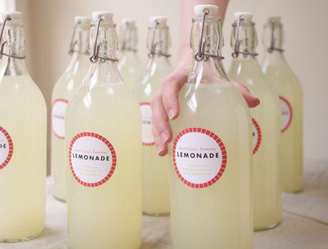 SLOM Bottle with stopper - IKEA. Clear glass. Lemonade.