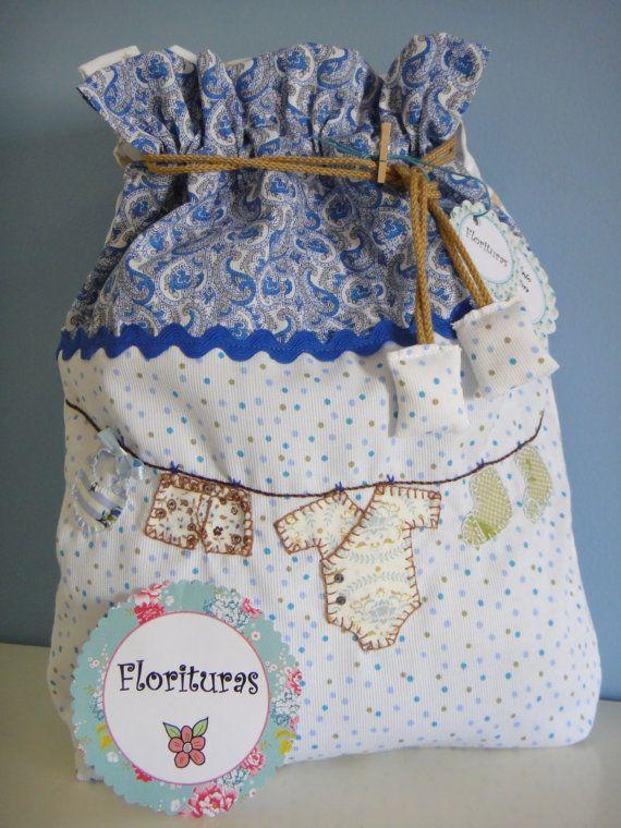Preciosa Bolsita de tela de piqué  con aplicaciones por Florituras, €25.00